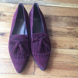 Suede pointed loafers from Stuart Weitzman